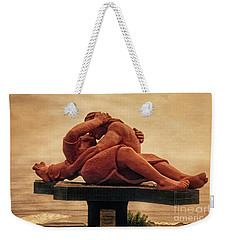 Weekender Tote Bag featuring the photograph The Kiss - Peru by Mary Machare