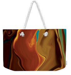 Weekender Tote Bag featuring the digital art The Kiss by Rabi Khan