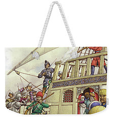 The Knights Of St John Seized Turkey's Finest Galleon, The Sultana Weekender Tote Bag by Pat Nicolle