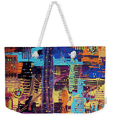 The L.a. Sky On The 4th Of July Weekender Tote Bag