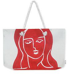 The Lady In Red Erotic Nude Female Woman  Weekender Tote Bag