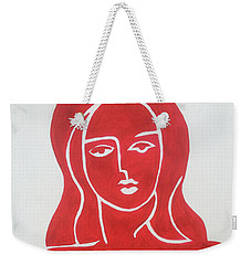 The Lady In Red Erotic Nude Female Woman  Weekender Tote Bag