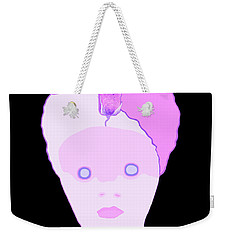 Weekender Tote Bag featuring the painting The Lady Of Peacock Hill by Marian Cates