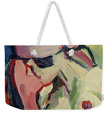 The Lady Without A Pearl Weekender Tote Bag