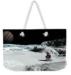 Weekender Tote Bag featuring the digital art The Lander Ulysses On Europa by David Robinson