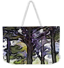 The Landscape With The Trees In A Row Weekender Tote Bag