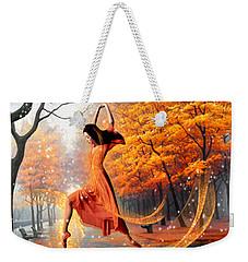 The Last Dance Of Autumn - Fantasy Art  Weekender Tote Bag