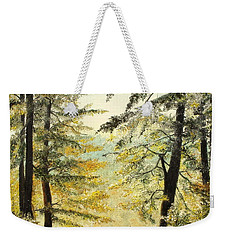Weekender Tote Bag featuring the painting The Last Hill by Sorin Apostolescu