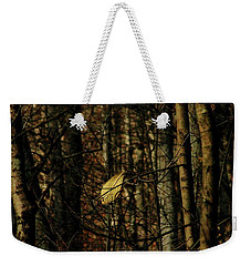 Weekender Tote Bag featuring the photograph The Last Leaf by Bruce Patrick Smith