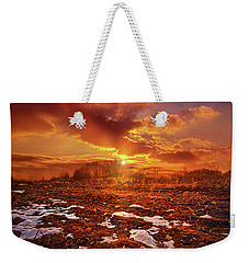 Weekender Tote Bag featuring the photograph The Last Pumpkin by Phil Koch