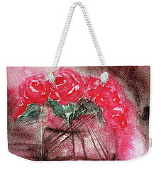 The Last Red Roses Weekender Tote Bag by Jasna Dragun