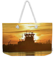 Weekender Tote Bag featuring the photograph The Last Run Has Been Done by John Glass