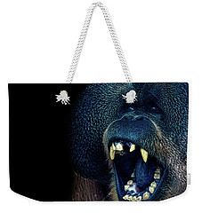 The Laughing Orangutan Weekender Tote Bag by Martin Newman