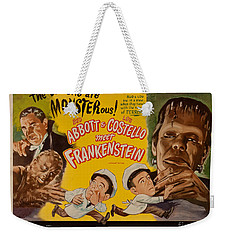 The Laughs Are Monsterous Abott An Costello Meet Frankenstein Classic Movie Poster Weekender Tote Bag by R Muirhead Art
