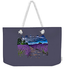 Weekender Tote Bag featuring the photograph The Lavender Field by Thom Zehrfeld