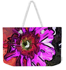 The Lavender Flower Above The Yellow Flower Weekender Tote Bag