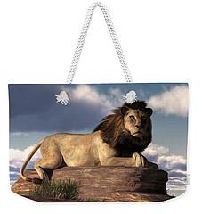 The Lazy Lion Weekender Tote Bag by Daniel Eskridge