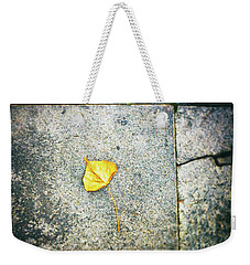 Weekender Tote Bag featuring the photograph The Leaf by Silvia Ganora