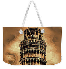 Weekender Tote Bag featuring the photograph The Leaning Tower Of Pisa by Tom Prendergast