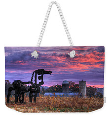 Weekender Tote Bag featuring the photograph The Legend Lives On The Iron Horse Art by Reid Callaway