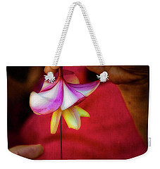 The Lei Maker's Hands Weekender Tote Bag