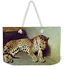 The Leopard Weekender Tote Bag by John Sargent Noble