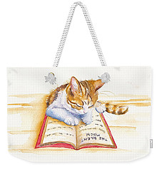 The Lesson Weekender Tote Bag by Debra Hall