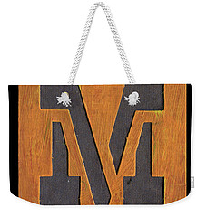 The Letter M Weekender Tote Bag