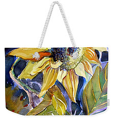 The Light Of Sunflowers Weekender Tote Bag by Mindy Newman