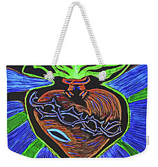 The Light Of The Sacred Heart Weekender Tote Bag by Lisa Brandel