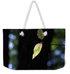 The Light Shines Through Weekender Tote Bag by Mary Bedy
