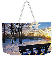 Weekender Tote Bag featuring the photograph The Light That Beckons by Phil Koch