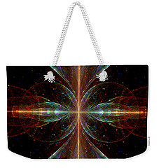 Weekender Tote Bag featuring the digital art The Light Within by Lea Wiggins