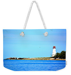 The Lighthouse At Sea Weekender Tote Bag