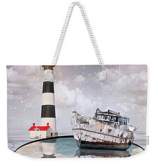 Weekender Tote Bag featuring the photograph The Lighthouse by Juli Scalzi