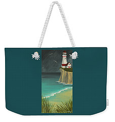 The Lighthouse On The Cliff Weekender Tote Bag