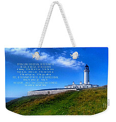 The Lighthouse On The Mull With Poem Weekender Tote Bag