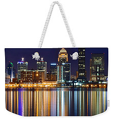 The Lights Of A Louisville Night Weekender Tote Bag