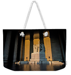 The Lincoln Memorial At Sunrise Weekender Tote Bag