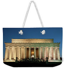 Weekender Tote Bag featuring the photograph The Lincoln Memorial by Mark Dodd