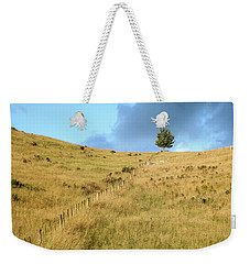 The Lines The Tree And The Hill Weekender Tote Bag by Yoel Koskas