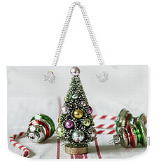 Weekender Tote Bag featuring the photograph The Little Christmas Tree by Kim Hojnacki