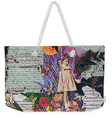 The Little Girl Wore Red Shoes Weekender Tote Bag