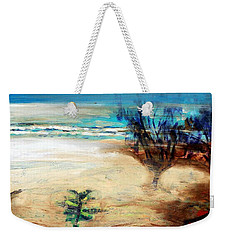 Weekender Tote Bag featuring the painting The Little Pine Tree by Winsome Gunning