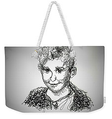 Weekender Tote Bag featuring the drawing The Little Rapper by Denise Fulmer