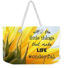 The Little Things Weekender Tote Bag
