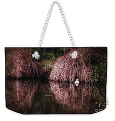 The Little White Duck Weekender Tote Bag by Isabella F Abbie Shores FRSA