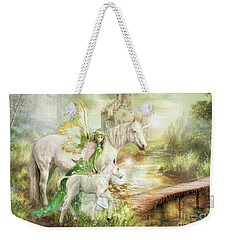 The Littlest Unicorn Weekender Tote Bag by Trudi Simmonds
