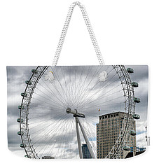 Weekender Tote Bag featuring the photograph The London Eye by Alan Toepfer