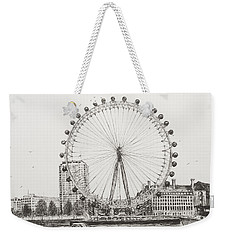 The London Eye Weekender Tote Bag by Vincent Alexander Booth
